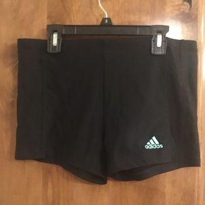 Adidas size Medium spandex, adjustable top band.